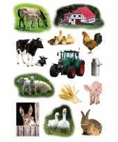 39x boerderij dieren stickers