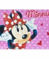 3d placemat disney minnie mouse roze 42 x 28 cm