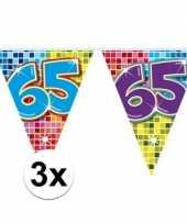 3mini vlaggenlijn slinger verjaardag versiering 65 jaar