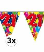 3x 21 jaar vlaggenlijn 10 meter