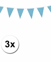 3x beieren vlaggenlijn oktoberfest 10 m