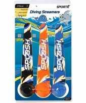 3x duikballen duikspeelgoed met werplint