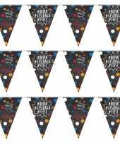 3x geslaagd afgestudeerd vlaggenlijnen slingers hashtags 10 m