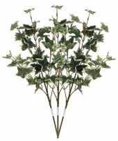 3x groen geelbonte hedera klimop kunsttakken kunstplanten 50 cm