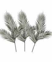 3x groene areca goudpalm kunsttakken kunstplanten 199 cm