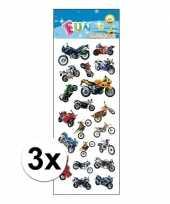 3x motorfiets stickervelletje