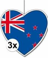 3x nieuw zeeland hangdecoratie harten 28 cm