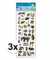 3x stickervellen dierentuin dieren