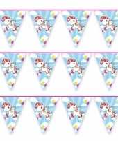 3x vlaggenlijn eenhoorn thema feestje 10 mtr