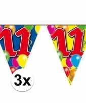 3x vlaggenlijnen 11 jaar