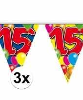 3x vlaggenlijnen 15 jaar 10 meter