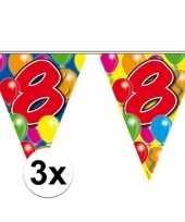 3x vlaggenlijnen 8 jaar 10 meter