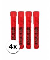 4 rode knipperende voetbal fakkels 40 sec