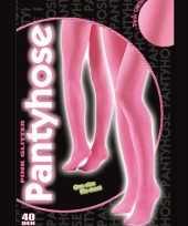 40 denier glitter pantie roze