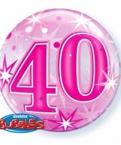 40 jaar feest folie ballon gevuld met helium 10089066