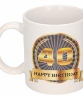 40e verjaardag koffiemok beker 300 ml