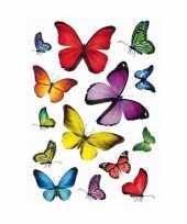 42x vlinders dieren stickers