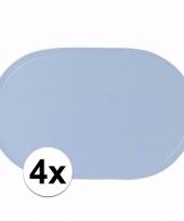 4x geboorte jongen lichtblauwe placemats