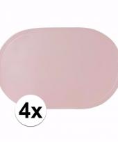 4x geboorte meisje lichtroze placemats