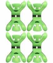 4x slingers decoratie ophangen slingerklemmen groen