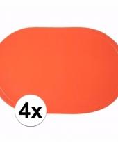 4x wk decoratie oranje placemats