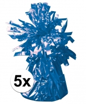 5 ballongewichten blauw 170 gr