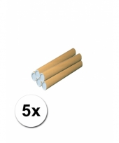 5 handwerk kokers van karton 31x4 cm