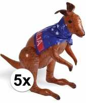 5 stuks opblaasbare australia kangoeroes