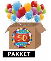50 jaar feest versiering voordeelbox