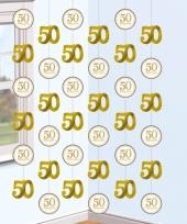 50 jaar getrouwd hangdecoratie goud