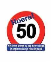 50 jaar hulde stopbord