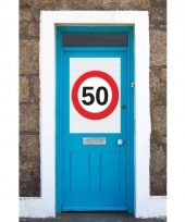 50 jaar stopbord poster a1