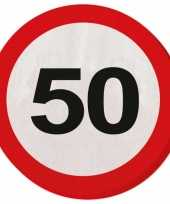 50 jaar verkeersborden servetten