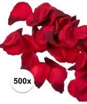 500x rode strooi rozenblaadjes 3 cm