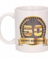 50e verjaardag koffiemok beker 300 ml