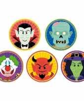50x halloween onderzetters clown duivel heks vampier zombie