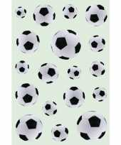 54x zwart witte voetballen stickers