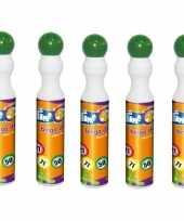 5x groene bingostiften markers 43 ml