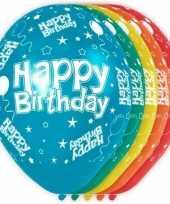 5x happy birthday heliumballonnen 30 cm