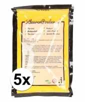 5x holi kleurpoeder geel