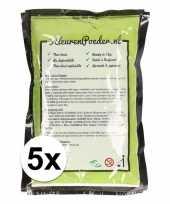 5x holi kleurpoeder groen