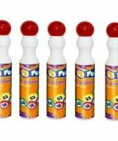 5x rode bingostift markers 43 ml