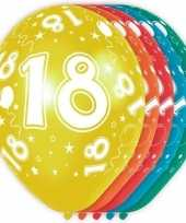 5x stuks 18 jaar thema versiering heliumballonnen 30 cm