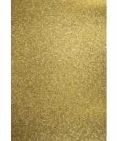 5x vellen glitterend goud hobby karton a4