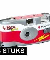 5x wegwerp agfaphoto lebox 400 camera met flitser 10127103