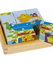 6 blokkenpuzzels met beren plaatjes