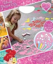 6 gekleurde krijtjes disney prinsessen