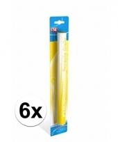 6 gele bengaalse fakkels 36 cm 60 sec
