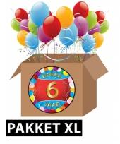 6 jaar feest versiering voordeelbox xl