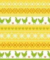 60x pasen servetten kippen geel oranje groen 33 x 33 cm